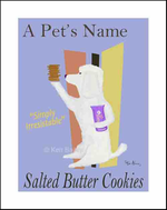 POODLE SALTED BUTTER COOKIES - Custom print on fine art paper
