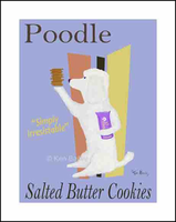 POODLE SALTED BUTTER COOKIES - Limited edition print on fine art paper