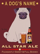 PUG ALL STAR ALE - Custom Canvas Premium Art
