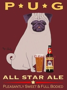 PUG ALL STAR ALE - Premium Canvas LImited Edition Print