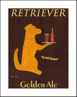 RETRIEVER GOLDEN ALE - Limited Edition Print and One-of-a-kind Spcial