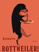 Rottweiler Bratwursts - Premium Canvas Limited Edition Print