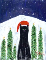 SANTA CAT -  Fine Limited Edition Print