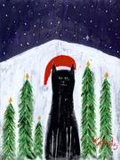 Santa Cat - Premium Canvas Limited Edition Print