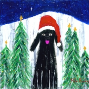 Santa Dog - Premium Canvas Limited Edition Print
