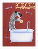 Schnauzer Bath Salts - Limited Edition Prints