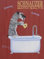 Schnauzer Bath Salts - Original Painting