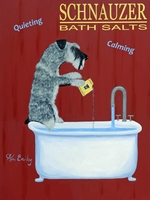 Schnauzer Bath Salts - Premium Canvas Limited Edition Print