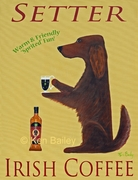 SETTER IRISH COFFEE - Premium Canvas Limited Edition Print