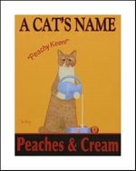 TABBY CAT - PEACHES & CREAM - Custom Print