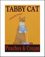 TABBY CAT - PEACHES & CREAM - Fine Limited Edition Print