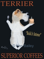 TERRIER SUPERIOR COFFEES - Premium Canvas Limited Edition Print