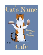 THE CALICO CAT CAFE - Custom Print