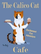 THE CALICO CAT CAFE - Premium Canvas Limited Edition Print
