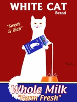 White Cat Milk - Premium Canvas Limited Edition Print