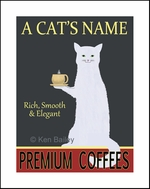 WHITE CAT PREMIUM COFFEE - Custom Print