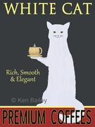 WHITE CAT PREMIUM COFFEE - Premium Canvas Limited Edition Prin