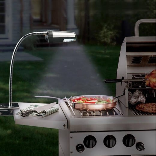 clip on stainless steel led battery operated barbecue. Black Bedroom Furniture Sets. Home Design Ideas