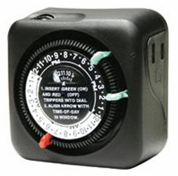 Intermatic Outdoor Plug In Timer with 2 f Settings