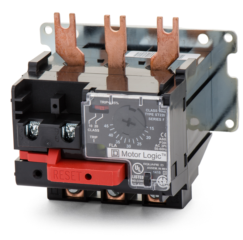 9065st220 overload relay square d for Sizing motor starters and overloads