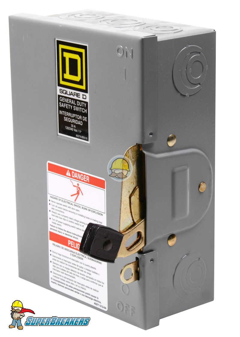 Square d d324n general duty safety switch for Square d motor disconnect switch