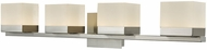Abra 20024WV-BN Cubic Modern Brushed Nickel LED 4-Light Bathroom Vanity Light