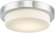 Abra 30014FM-CH Step Modern Chrome LED 11  Ceiling Light Fixture