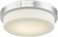 Abra 30015FM-CH Step Contemporary Chrome LED 13  Flush Lighting