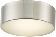 Abra 30030FM-BN Bongo Contemporary Brushed Nickel LED 10  Flush Mount Lighting Fixture