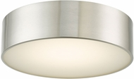 Abra 30031FM-BN Bongo Modern Brushed Nickel LED 12  Flush Ceiling Light Fixture