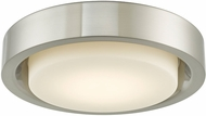 Abra 30037FM-BN Eclipse Contemporary Brushed Nickel LED 16  Overhead Light Fixture