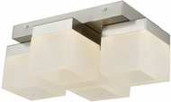 Abra 30055FM-BN Cubic Modern Brushed Nickel LED Overhead Lighting Fixture