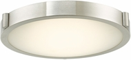 Abra 30065FM-BN Halo Modern Brushed Nickel LED 11  Flush Lighting