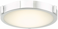 Abra 30065FM-CH Halo Contemporary Chrome LED 11  Flush Mount Lighting