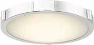 Abra 30066FM-CH Halo Contemporary Chrome LED 13  Flush Mount Light Fixture