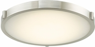 Abra 30067FM-BN Halo Modern Brushed Nickel LED 17  Flush Mount Lighting Fixture