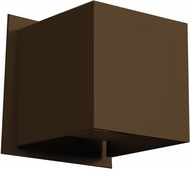 Access 20398LED-BRZ Square Contemporary Bronze & Bronze Metal LED Outdoor Wall Light Fixture