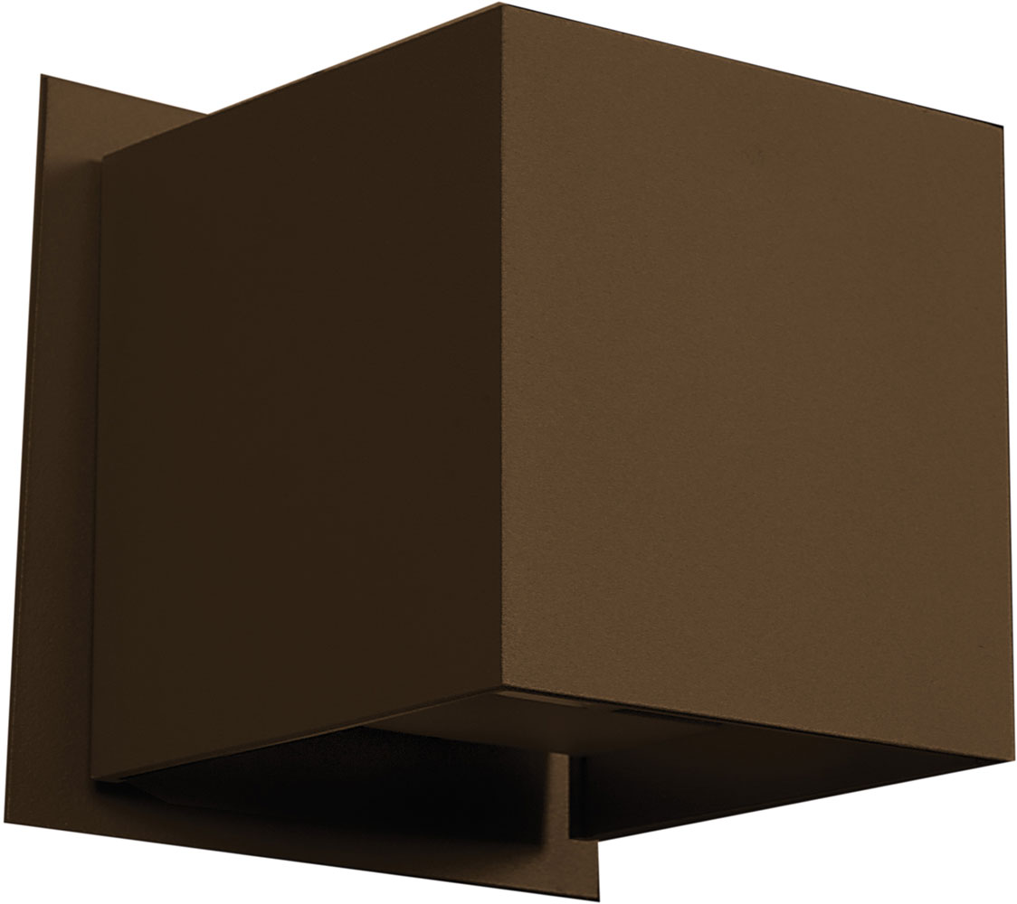 Access 20398LED-BRZ Square Contemporary Bronze & Bronze Metal LED ...