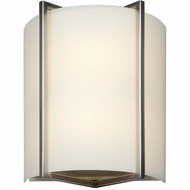 Access 20451-BS-OPL Vector Contemporary Brushed Steel Finish 9 Wide Light Sconce