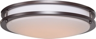 Access 20466GU-BRZ-ACR Solero Bronze Flourescent 18  Flush Ceiling Light Fixture