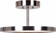 Access 20494LEDD-BS-ACR Sphere Contemporary Brushed Steel LED Flush Ceiling Light Fixture