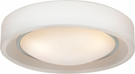 Access 20682LEDD-CH-OPL Splash Contemporary Chrome & Opal Glass LED Ceiling Light Fixture