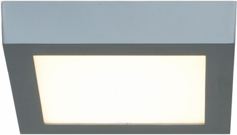 Access 20772LEDD-SILV-ACR Strike Contemporary Silver & White Acrylic LED Flush Ceiling Light Fixture