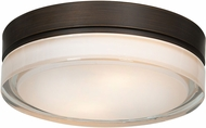 Access 20775LEDD-BRZ-OPL Solid Bronze & Opal Glass LED Ceiling Light