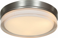 Access 20775LEDD-BS-OPL Solid Brushed Steel & Opal Glass LED Ceiling Light Fixture