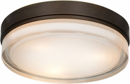 Access 20776LEDD-BRZ-OPL Solid Bronze & Opal Glass LED Flush Lighting