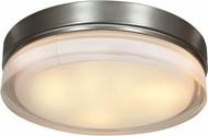 Access 20776LEDD-BS-OPL Solid Brushed Steel & Opal Glass LED Flush Mount Lighting