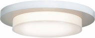 Access 20779LEDD-WH-ACR Link Contemporary White & White Acrylic LED Flush Mount Lighting Fixture
