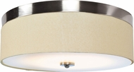 Access 20821LEDD-BS-ACR Mia Modern Brushed Steel LED 18  Flush Mount Light Fixture