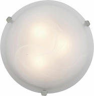 Access 23019LED-BS-ALB Mona Brushed Steel & Alabaster Glass LED Overhead Lighting Fixture